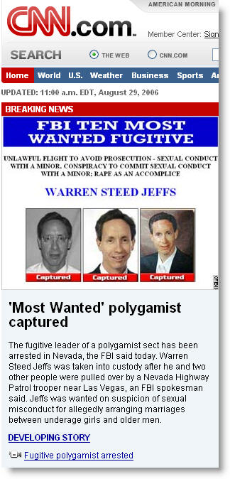 Warren Jeffs Arrested