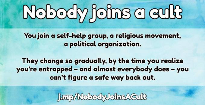 joining a cult