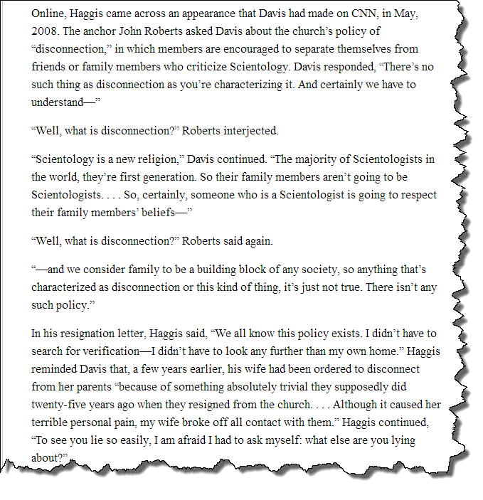Screenshot from The Apostate: Paul Haggis vs. the Church of Scientology, The New Yorker, Feb. 14, 2011
