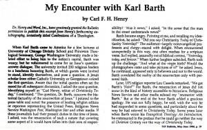 Karl Barth and Carl Henry