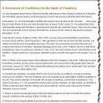 SDA Church's 'Statement of Confidence in the Spirit of Prophecy', which it identifies as Ellen G. White