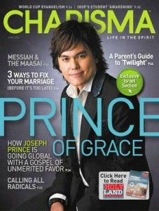 Joseph Prince, cover of Charisma magazine, June 2010