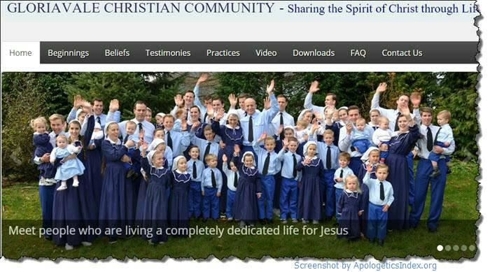 Screenshot, Gloriavale's official website