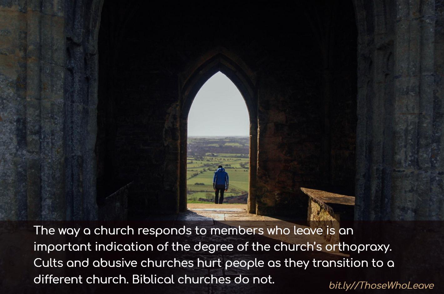 leave church